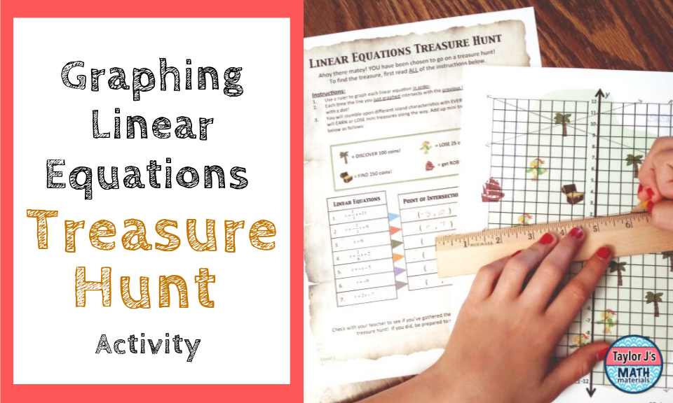 graphing linear equations treasure hunt activity