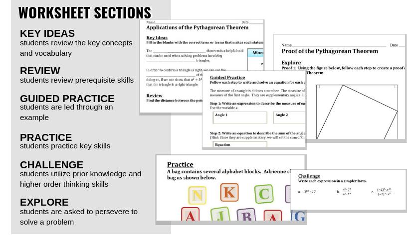 7th and 8th grade math worksheets