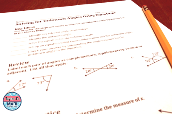 Looking for ways to use math worksheets that will engage your students? These tips are great for the middle and high school level!