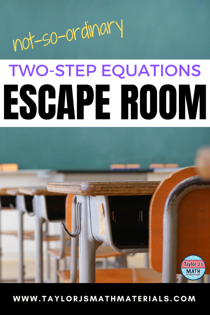two step equations math classroom activity escape room dance challenge