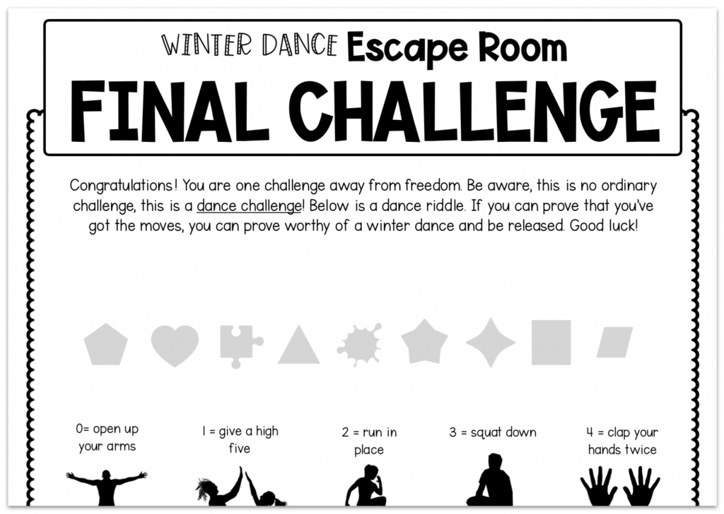 two step equations word problems escape room dance challenge